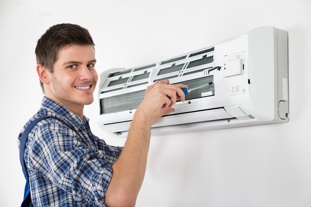 commercial property manager using an air conditioning contractor